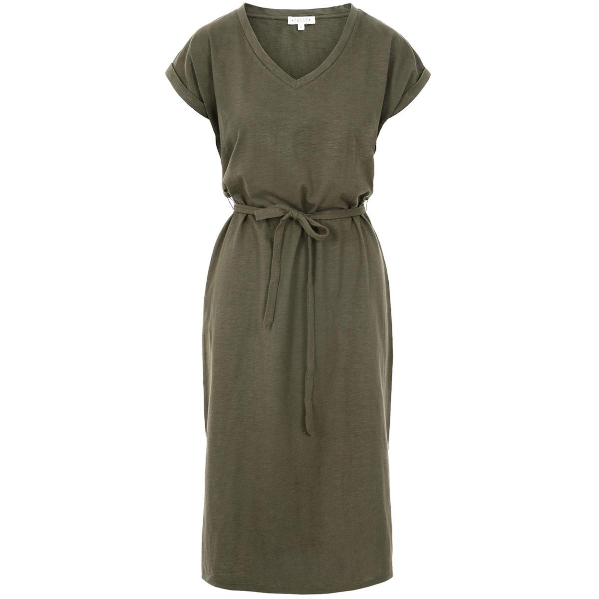 basic t-shirtjurk zusss jurk groen