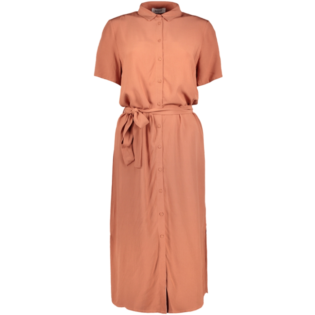 pccecilie ss long dress noos bc 17098767 pieces jurk copper brown