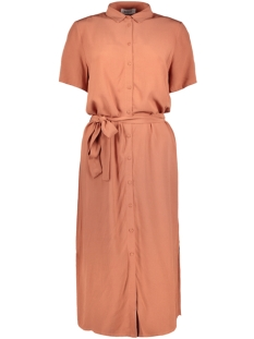 Pieces Jurk PCCECILIE SS LONG DRESS NOOS BC 17098767 Copper Brown