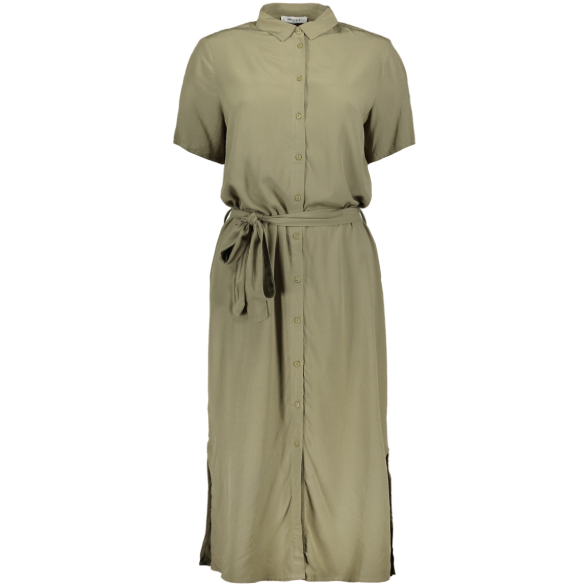pccecilie ss long dress noos bc 17098767 pieces jurk deep lichen green