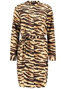 Vero Moda Jurk VMSAGA LS ABK SHIRT DRESS 10212878 Tobacco Brown/TIFFANY