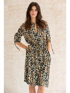 Geisha Jurk DRESS LEOPARD STRAPS S/S 0705142 BEIGE/BLACK