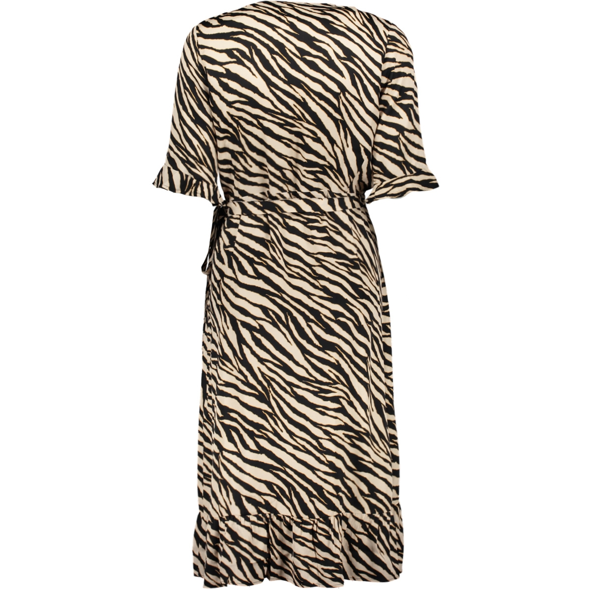 dress wrap ruffle 0710720 geisha jurk black/sand combi