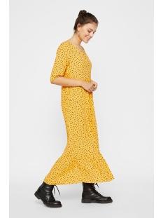 pcnimma 2/4 ankle dress 17101893 pieces jurk artisans gold/spot flower