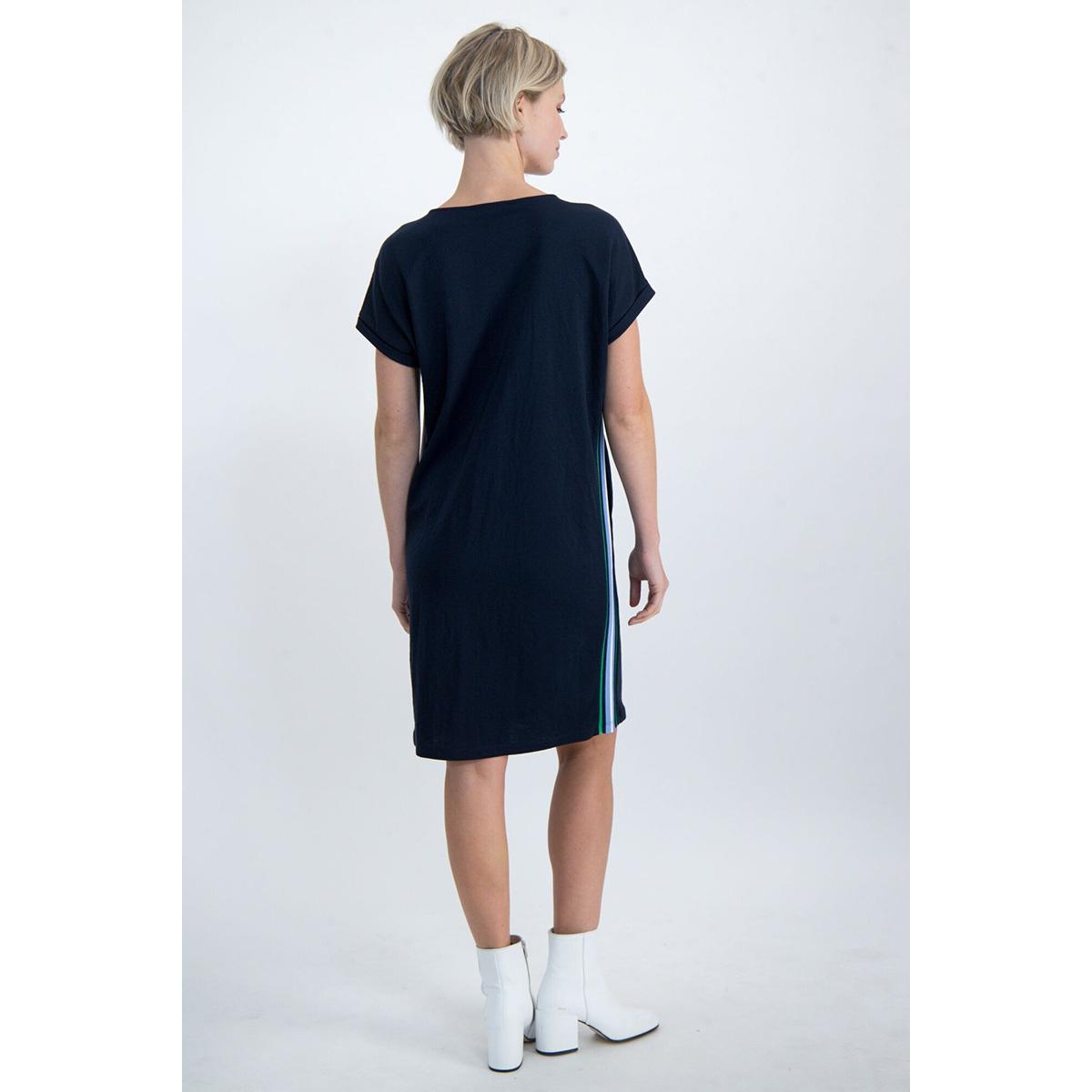 jurk met gestreepte tapes o00080 garcia jurk 292 dark moon