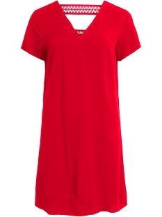 Vila Jurk VISOMMI NEW DETAIL S/S DRESS /L 14057103 Flame Scarlet