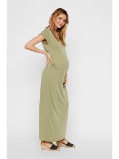 Mama-Licious Positie jurk MLNELLA S/S JERSEY MAXI DRESS V. 20008346 Oil Green/MELANGE