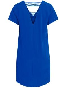visommi new detail s/s dress /l 14057103 vila jurk mazarine blue