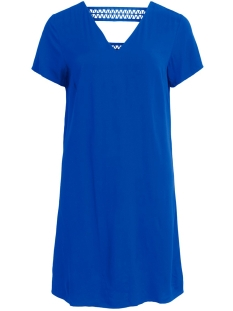 Vila Jurk VISOMMI NEW DETAIL S/S DRESS /L 14057103 Mazarine Blue