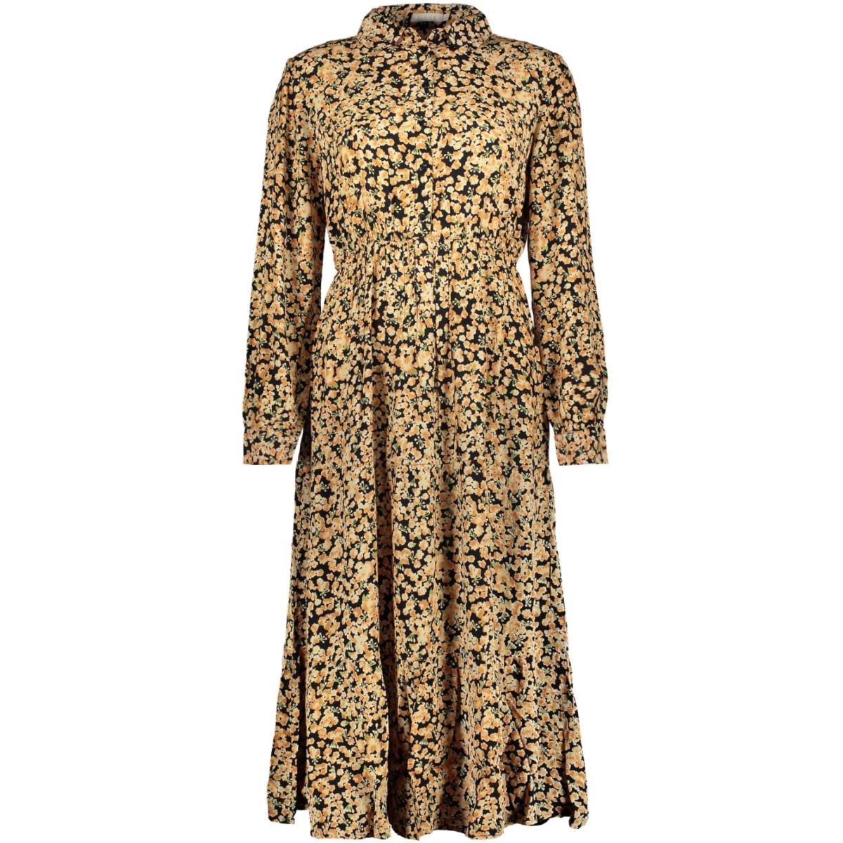 pcdinah ls midi dress d2d 17108011 pieces jurk black/ditsy flowers