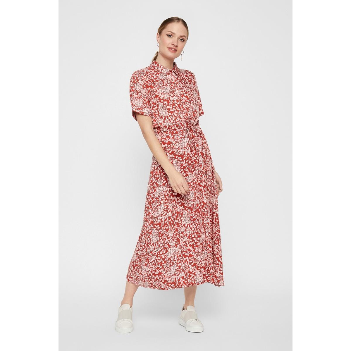 pcangilica ss midi dress 17103710 pieces jurk chilli oil/boho flowers