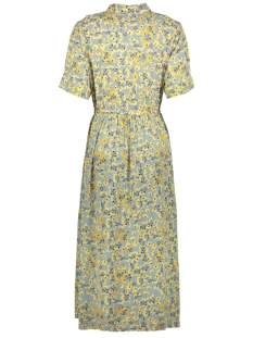 pcdawn ss midi dress 17098372 pieces jurk slate/yellow flower