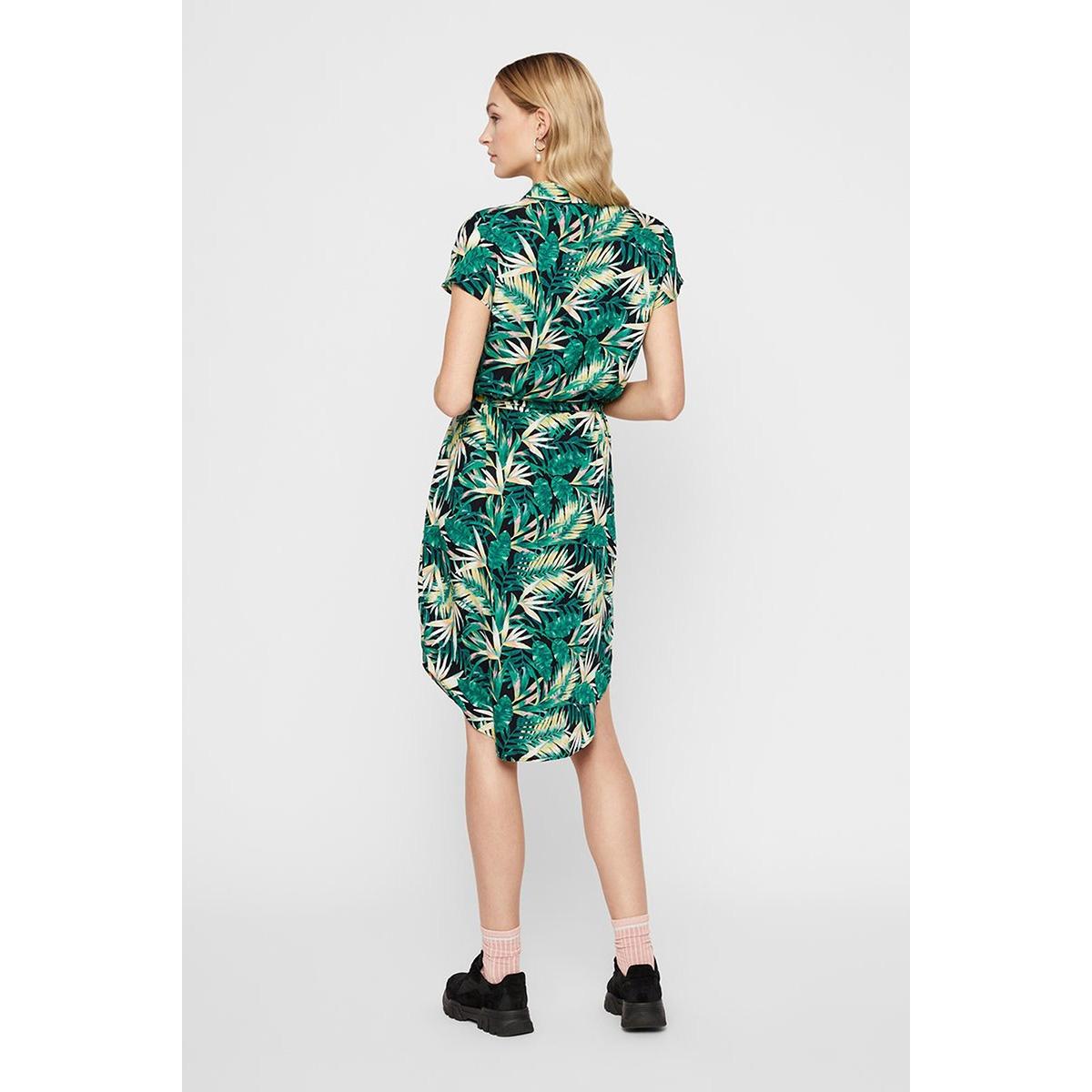 pcnya ss shirt dress pb 17102733 pieces jurk black/palm