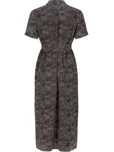 libby safari dress sss2021 ydence jurk black pink print