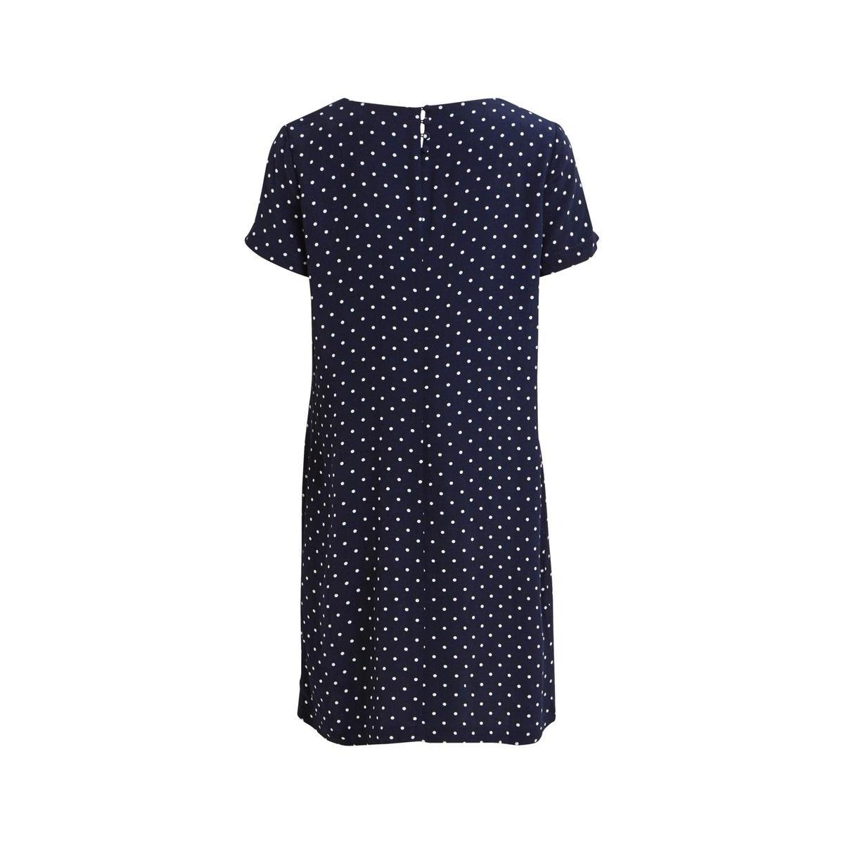 viprimera s/s dress-fav lux 14055566 vila jurk navy blazer/snow white