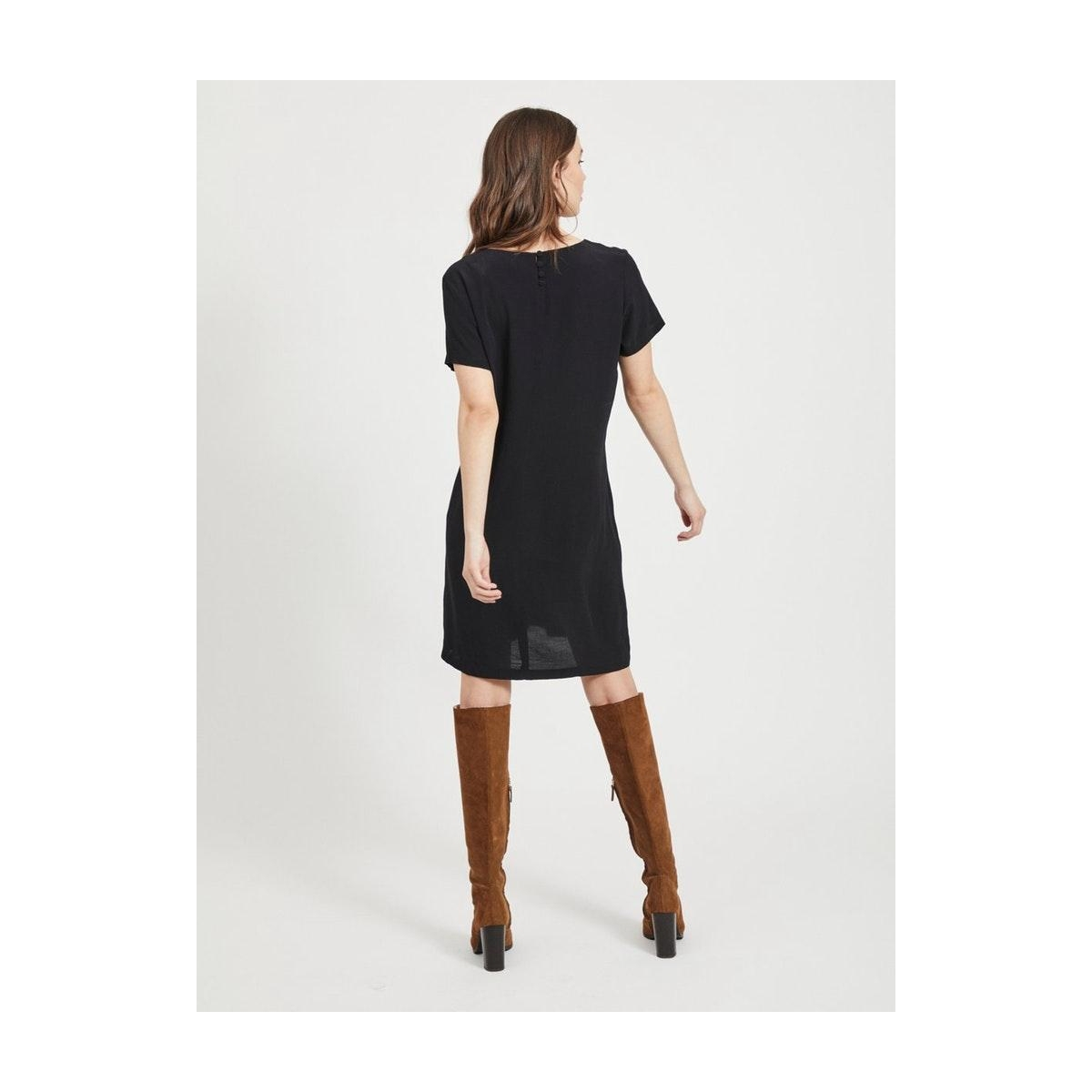 viprimera s/s dress-noos 14054650 vila jurk black