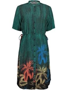 Geisha Jurk DRESS PALMTREES AND STRINGS S S 07072 Black/Green Combi