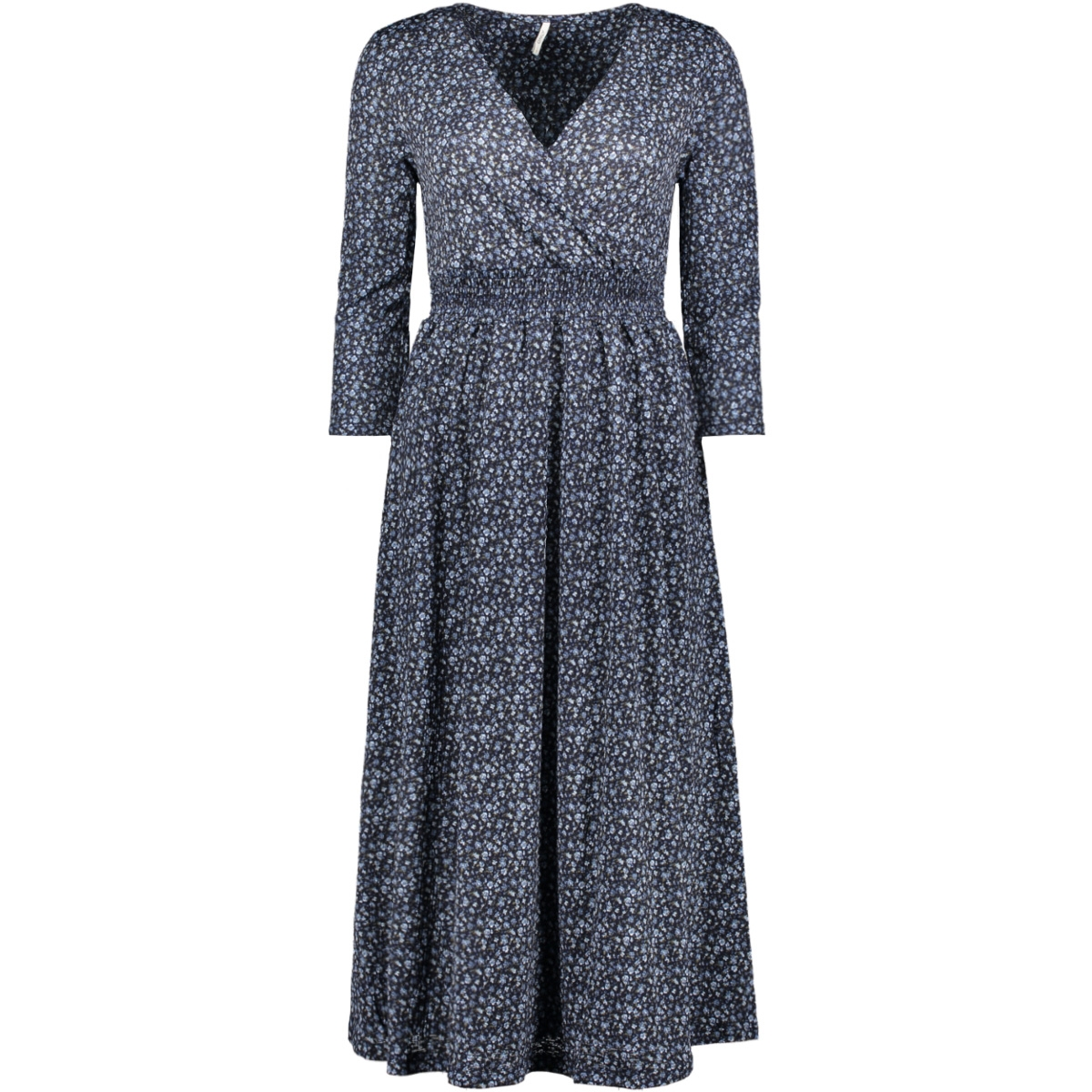 onlpella 3/4 aop dress jrs 15202182 only jurk night sky/route dits