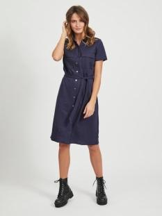 visafina s/s shirt dress - noos 14057357 vila jurk navy blazer