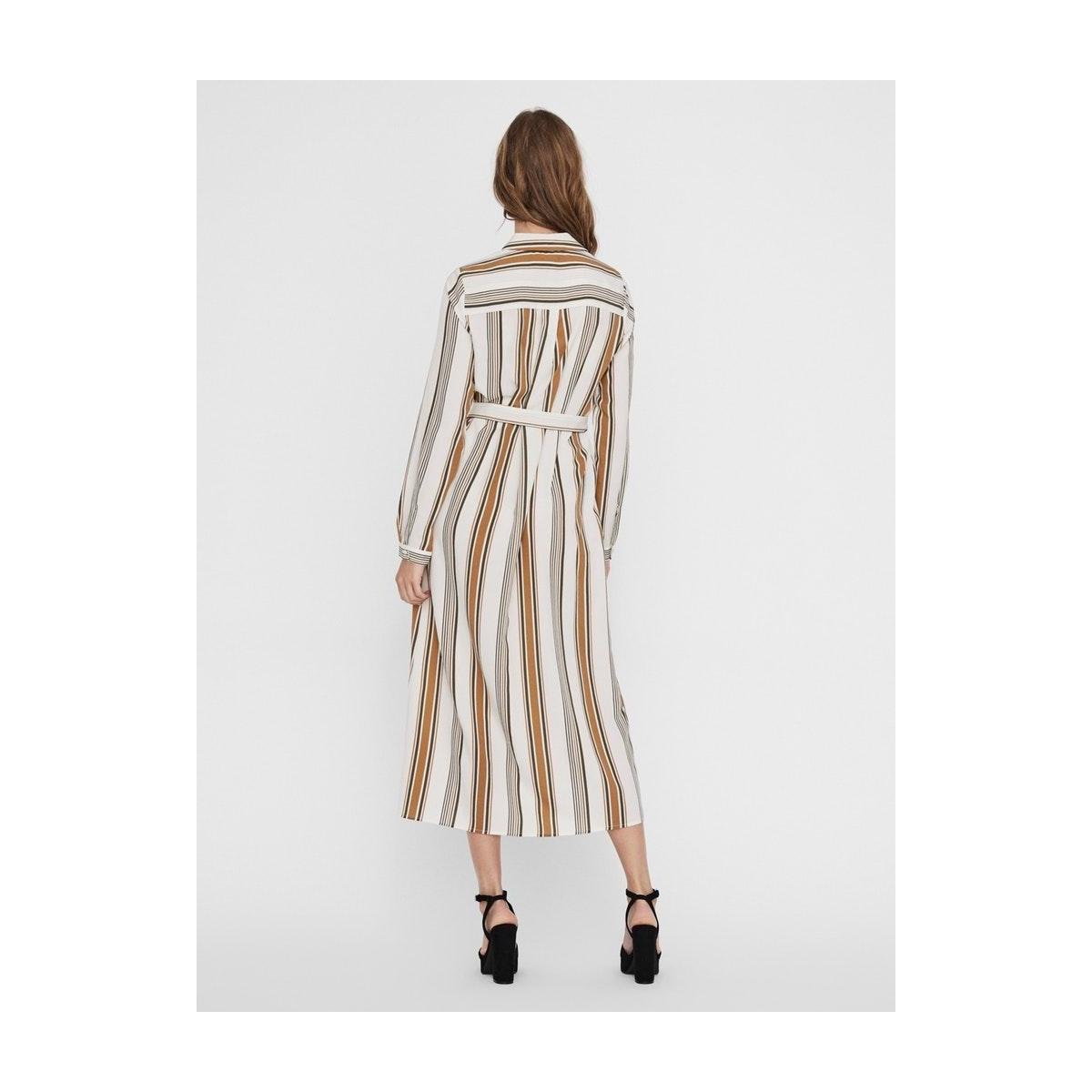 vmathens ls shirt dress vma 10231142 vero moda jurk brich/ivygreen