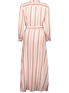 onlnadya life 7/8 stripes dnm dress 15200640 only jurk cloud dancer/hot sauce