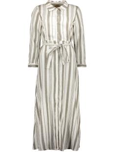 onlnadya life 7/8 stripes dnm dress 15200640 only jurk cloud dancer/kalamata
