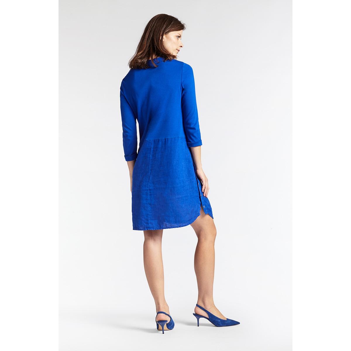 linnen jurk met knoopdetails 23001680 sandwich jurk 40031