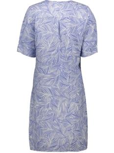 linnen jurk met organsiche print 23001682 sandwich jurk 40031