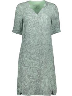 linnen jurk met organsiche print 23001682 sandwich jurk 51007