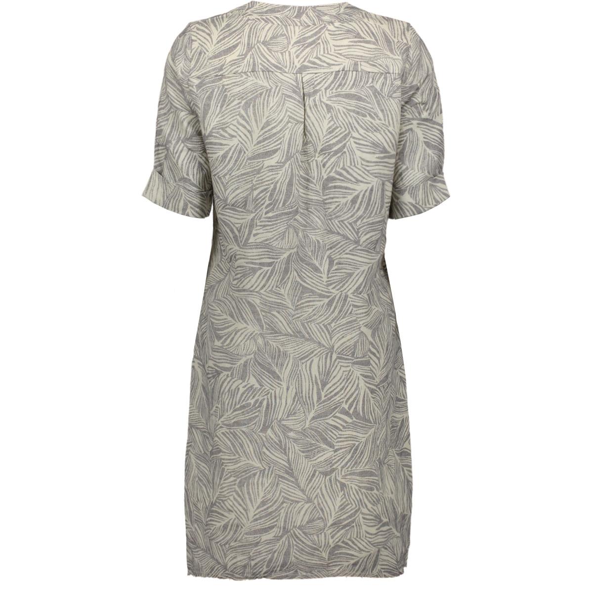 linnen jurk met organsiche print 23001682 sandwich jurk 80025