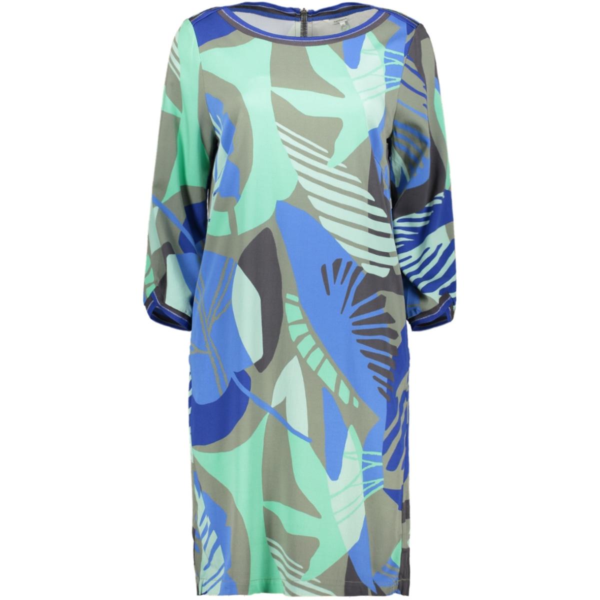 jurk met organische print 23001701 sandwich jurk 50012
