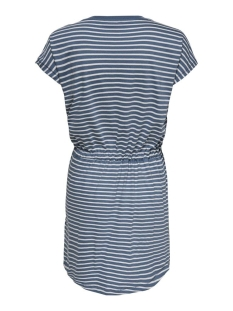 onlmay life s/s dress noos 15153021 only jurk blue mirage/thin strip