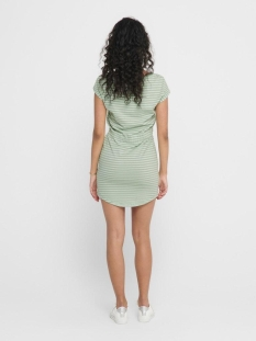 onlmay life s/s dress noos 15153021 only jurk frosty green/thin strip
