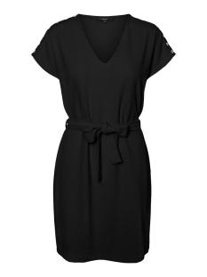 vmfana s/s short dress wvn lcs 10226098 vero moda jurk black/silver eye