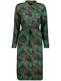 Geisha Jurk DRESS AOP LEAVES WITH BELT 97818 GREEN/RED COMBI