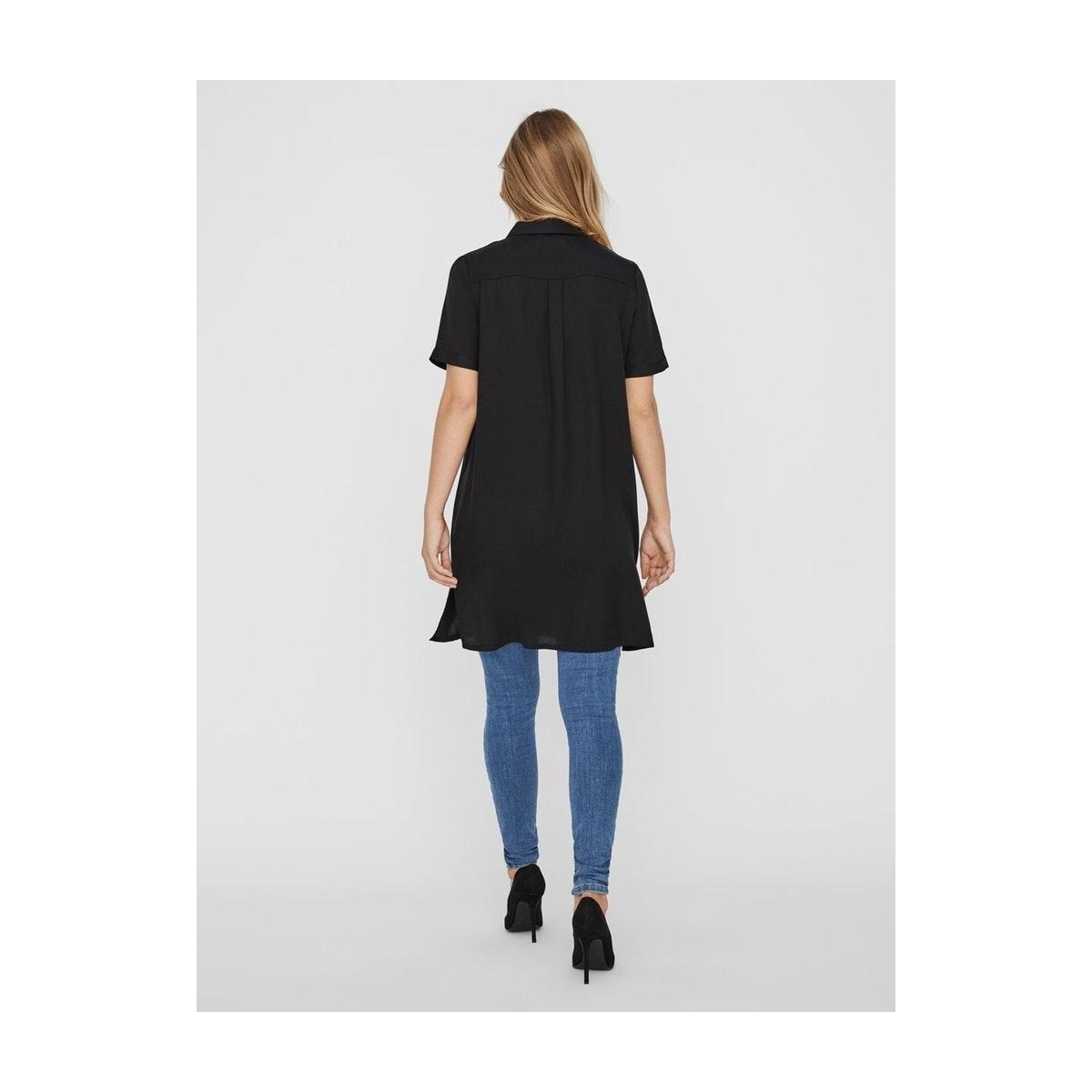 vmchloe ss tunic dress ga noos 10226189 vero moda jurk black