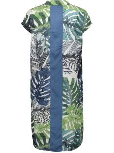 dress aop leaves band at back s/s 07092 geisha jurk white/green combi