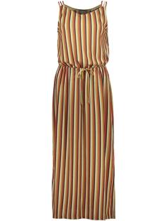 Geisha Jurk DRESS SPAGHETTI FANCY STRIPES 07181 LIME/ORANGE MULTI