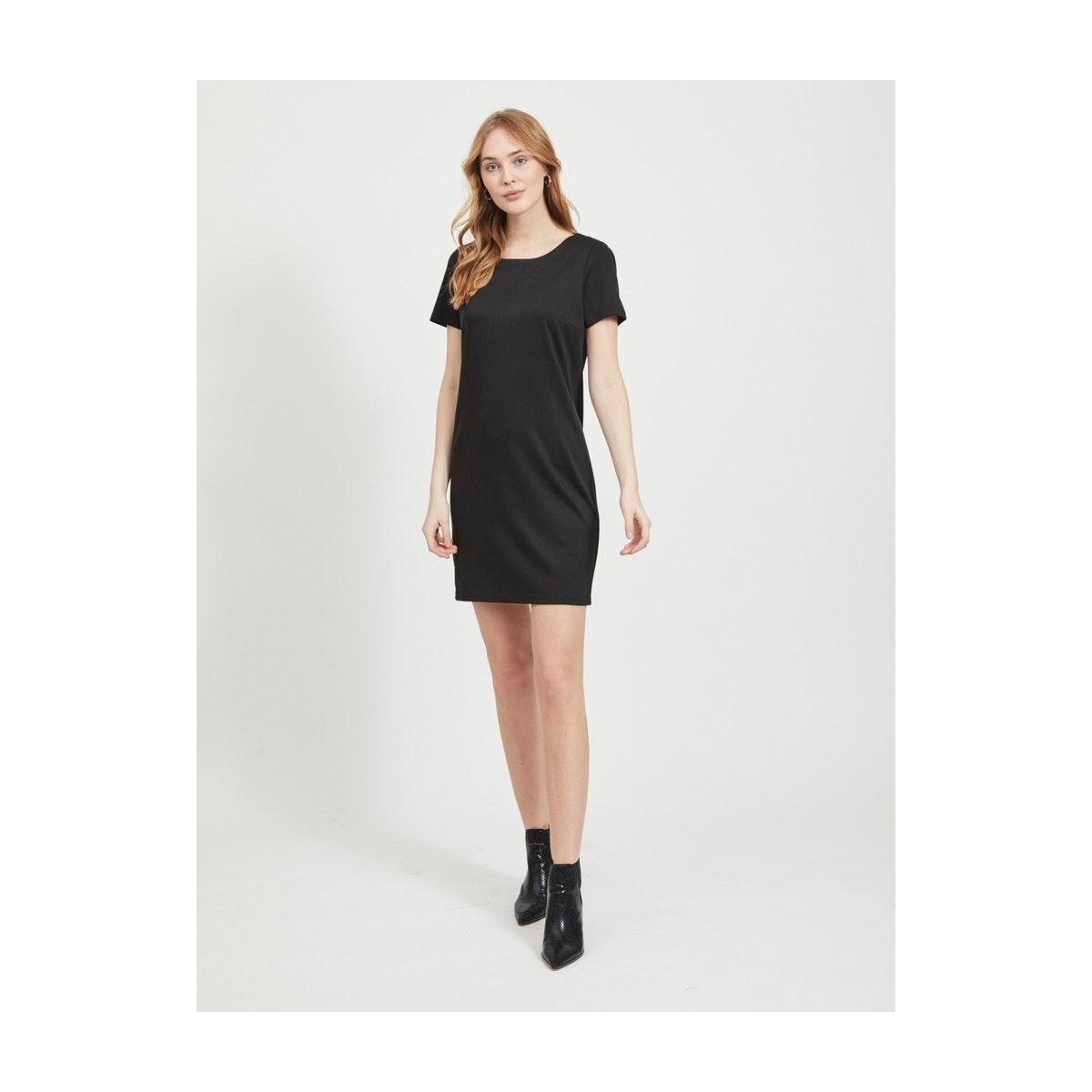 vitinny new s/s dress - fav 14044396 vila jurk black