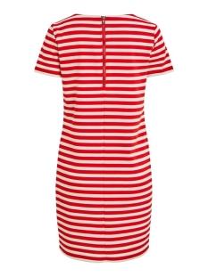 vitinny new s/s dress - fav 14044396 vila jurk flame scarlet/snow white