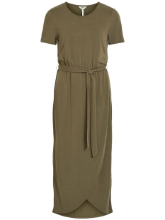 Object Jurk OBJANNIE NADIA S/S DRESS NOOS 23031011 Burnt Olive