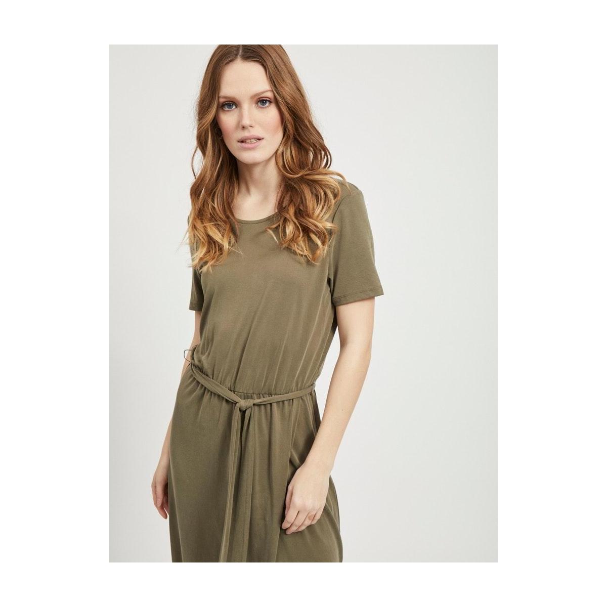 objannie nadia s/s dress noos 23031011 object jurk burnt olive