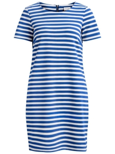 Vila Jurk VITINNY NEW S/S DRESS - FAV 14044396 Mazarine Blue/SNOW WHITE