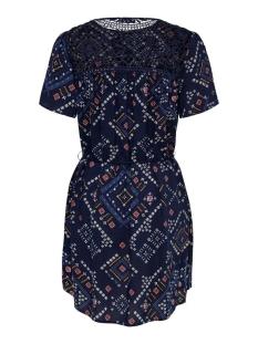 onldee life s/s dress wvn 15201613 only jurk peacoat/graphic bo