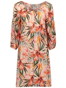 Geisha Jurk AOP FLOWER DRESS 97102 SALMON COMBI
