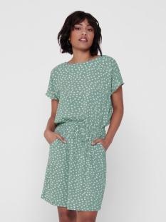 onlmariana myrina s/s det dress noo 15178544 only jurk chinois green/big karo