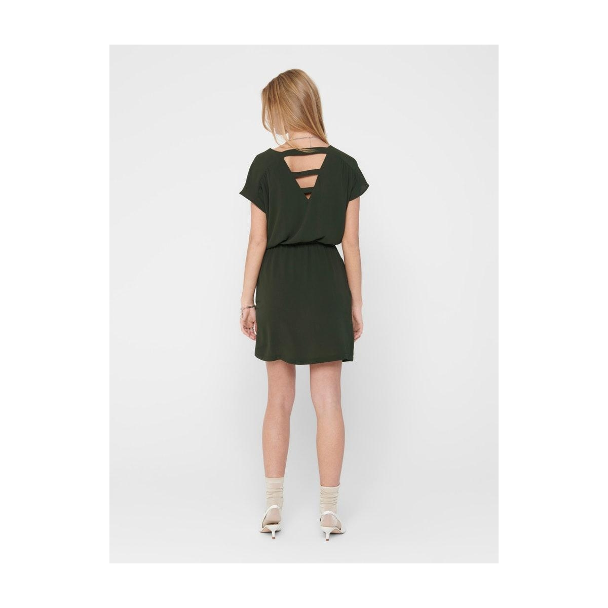 onlmariana myrina s/s det dress noo 15178544 only jurk peat