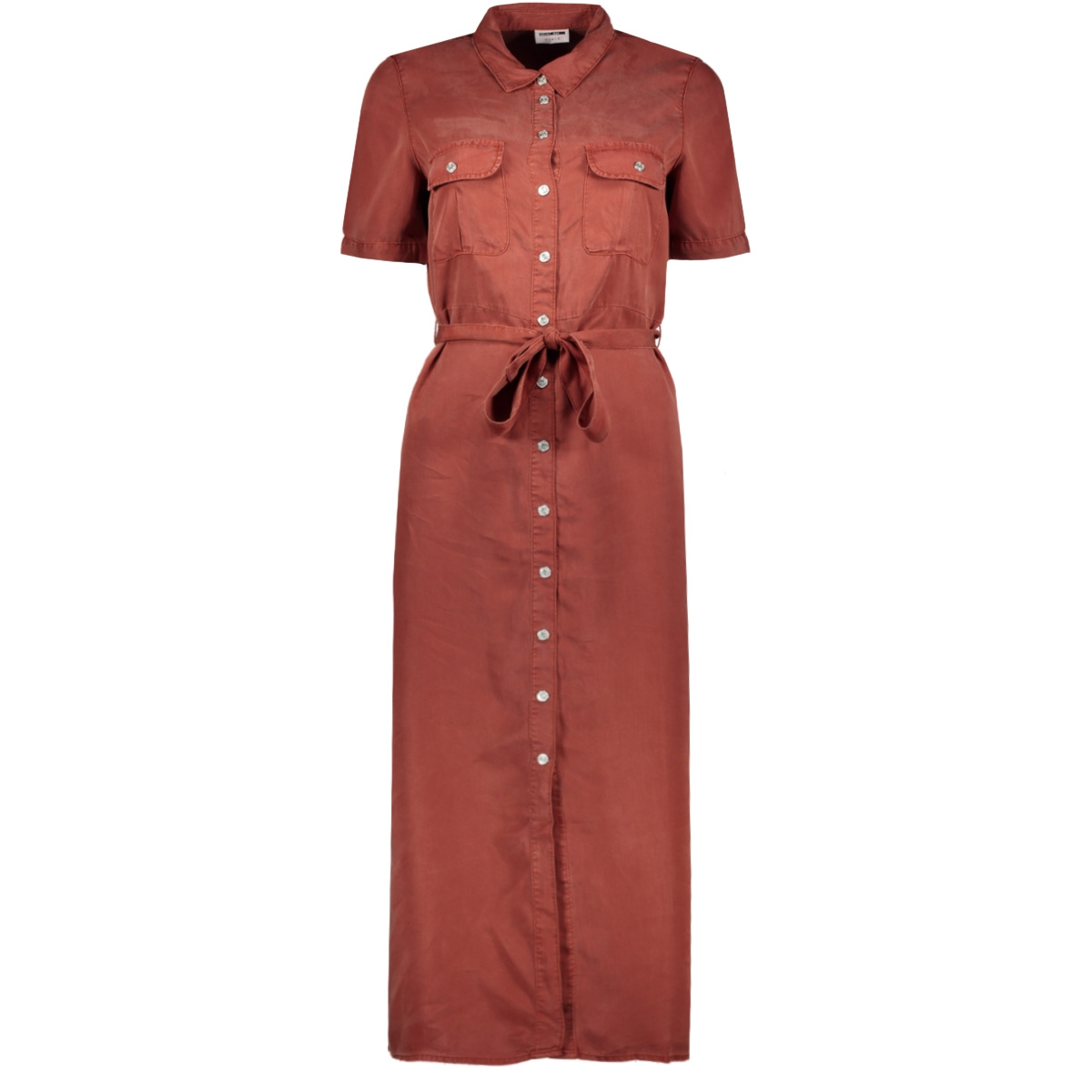 nmcersei s/s endi button dress bg 27011292 noisy may jurk burnt henna