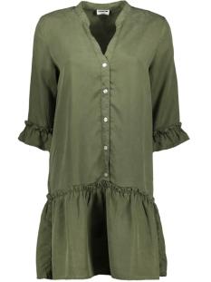 Noisy may Jurk NMSOPHIE ENDI FRILL DRESS BG 27011293 Olive Night