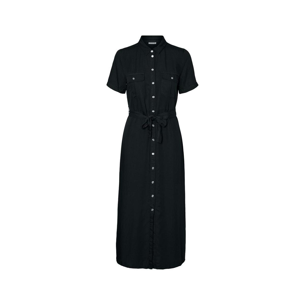 nmcersei s/s endi button dress bg 27011292 noisy may jurk black